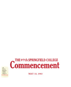Commencement Program (1983)