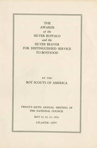 1936 Silver Buffalo award pamphlet