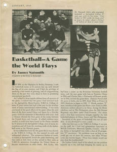 Basketball - A Game the World Plays, by James Naismith