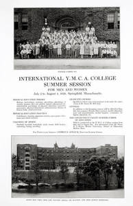 International YMCA College Summer School poster, 1928