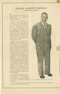 Alberto Regina Obituary in YMCA Newsletter (March 1948)