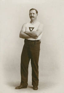 Dr. Seerley in gym clothes, 1890-1901?