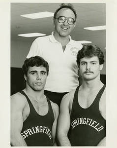 Coach Doug Parker with Greg Georges and Tom Worroll (1981-1982)