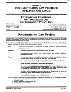 Appendix 2: Documentation Law Project: Outlines and Goals
