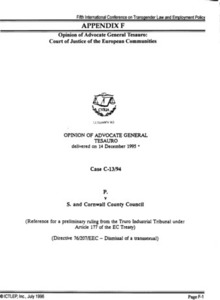 Appendix F: Opinion of Advocate General Tesauro: Court of Justice of the European Communities