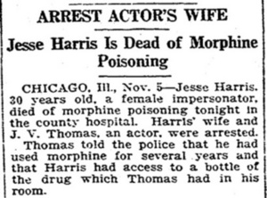 Arrest Actor's Wife: Jesse Harris Is Dead of Morphine Poisoning