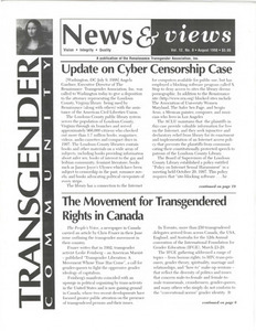 Renaissance News & Views, Vol. 12 No. 8 (August 1998)