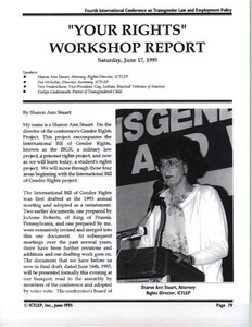 """Your Rights"" Workshop Report"