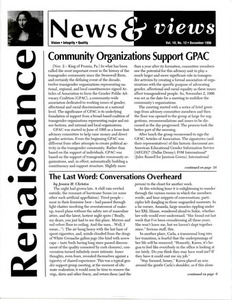Renaissance News & Views, Vol.10, No.12 (December 1996)