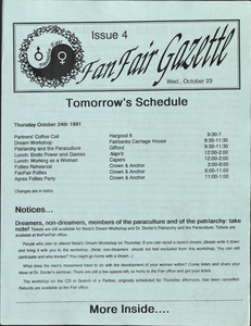 Fan Fair Gazette, Issue 4 (October 23, 1991)