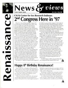 Renaissance News & Views, Vol. 9 No. 5 (May 1995)