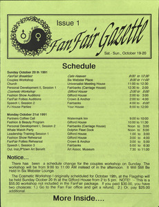Fan Fair Gazette, Issue 1 (October 19-20, 1991)
