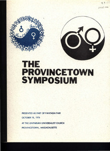 The Provincetown Symposium (October 18, 1976)