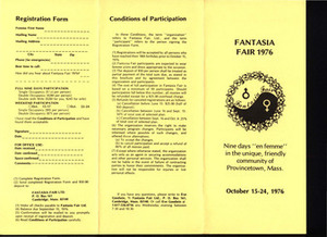 Fantasia Fair Brochure (Oct. 15 - 24, 1976)
