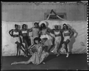 """Men Dressed as Women at the """"Negro Review"""""""