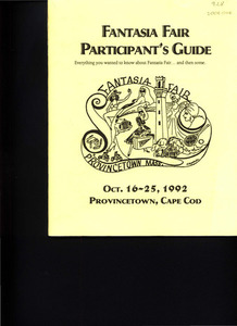 Fantasia Fair Participant's Guide (Oct. 16 - 25, 1992)