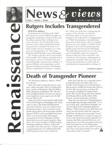 Renaissance News & Views, Vol. 12 No. 4 (April 1998)