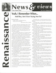 Renaissance News & Views, Vol. 11 No. 2 (February 1997)