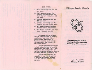 Chicago Gender Society Brochure