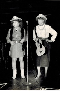 Alison Laing and Unidentified Woman Onstage