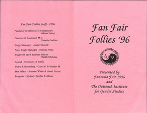 Fan Fair Follies '96 Program