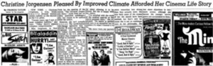 Christine Jorgensen Pleased By Improved Climate Afforded Her Cinema Life Story