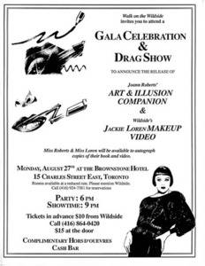 Walk on the Wildside Gala Celebration & Drag Show Promotional Flyer