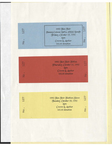 1992 Fan Fair Event Tickets