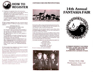 14th Annual Fantasia Fair Brochure (Oct.14-23, 1988)