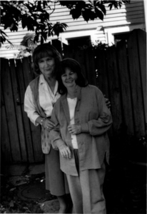 Alison and Dottie Laing Pose Outside (2)