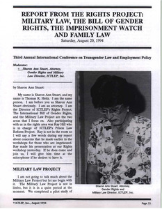 Report from the Rights Project: Military Law, the Bill of Gender Rights, the Imprisonment Watch and Family Law