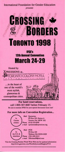 Brochure for Crossing Borders Toronto 1998 (March 24-29)