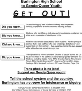 Support Our GenderQueer Youth! Flyer