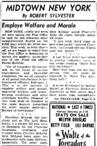 Midtown New York: Employe [sic] Welfare and Morale
