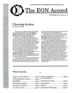 The EON Accord Vol. 2 No. 3 (September 1993)
