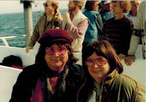 Alison and Dottie Laing on Ferry