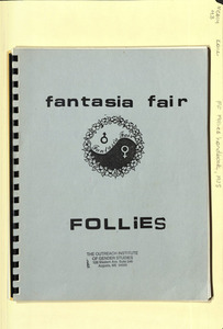 Fantasia Fair Follies Handbook (1985)
