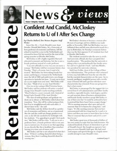 Renaissance News & Views, Vol. 11 No. 3 (March 1997)