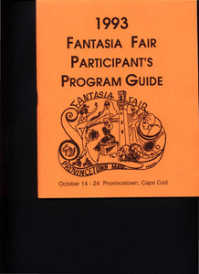Fantasia Fair Participant's Program Guide (Oct. 14 - 24, 1993)