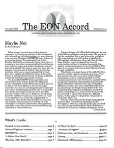 The EON Accord Vol. 2 No. 4 (November 1993)
