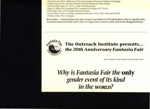 Fantasia Fair Brochure (1994)