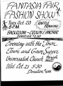 Fantasia Fair Fashion Show Advertisement (Oct. 20)