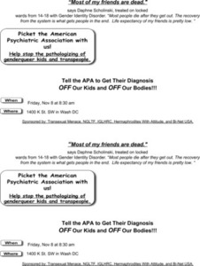 Picket the American Psychiatric Assocation With Us! Flyer