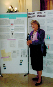 Alison Laing In Front of Informational Poster