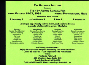 17th Annual Fantasia Fair Brochure (Oct. 18-27, 1991)