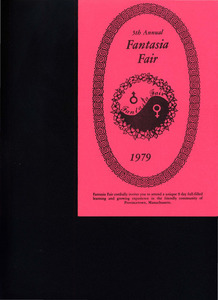 5th Annual Fantasia Fair Brochure (Oct. 12 - 21, 1979)