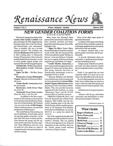 Renaissance News, Vol. 7 No. 3 (March 1993)