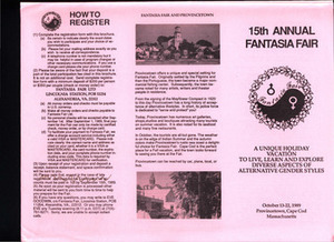 15th Annual Fantasia Fair Brochure (Oct. 13 - 22, 1989)