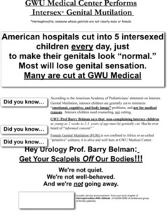 GWU Medical Center Performs Intersex Genital Mutilation Flyer