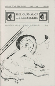 The Journal of Gender Studies Vol. 15 No. 2 & Vol. 16 No. 1